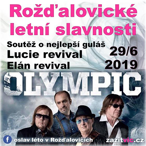 Rožďalovické letní slavnosti<br>Olympic<br>Lucie revival, Elán revival