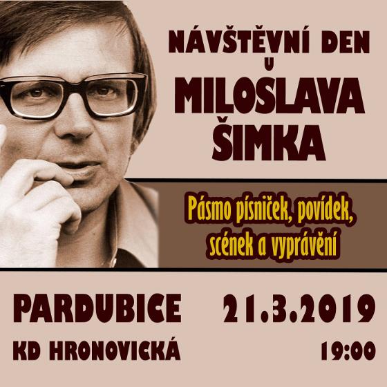 Návštěvní den u Miloslava Šimka<br>Pásmo písniček, scének a vyprávění