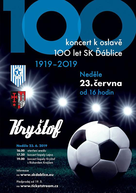Kryštof<br>Koncert ke 100 let fotbalu SK Ďáblice