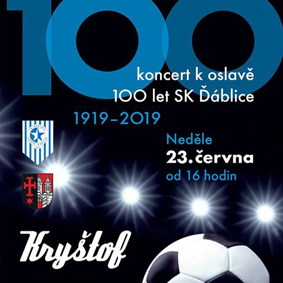 Kryštof<br>Koncert ke 100 let fotbalu SK Ďáblice<br>host: Lajna