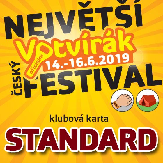 Festival Votvírák 2019<br>Největší hudební festival<br><b><font color=red>Klubová karta standard</font></b>