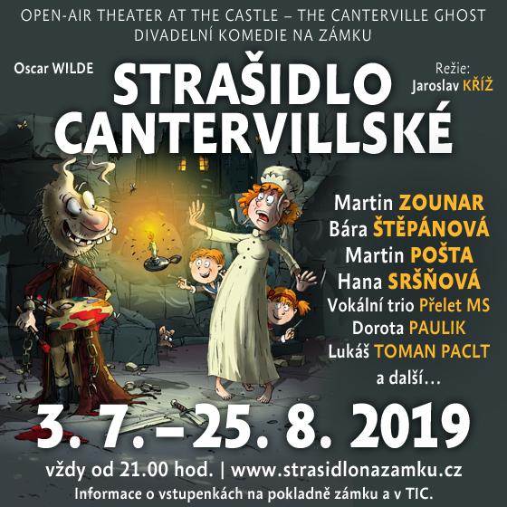 Divadelní komedie<br> Strašidlo cantervillské<br> Na nádvořích moravských a českých hradů a zámků