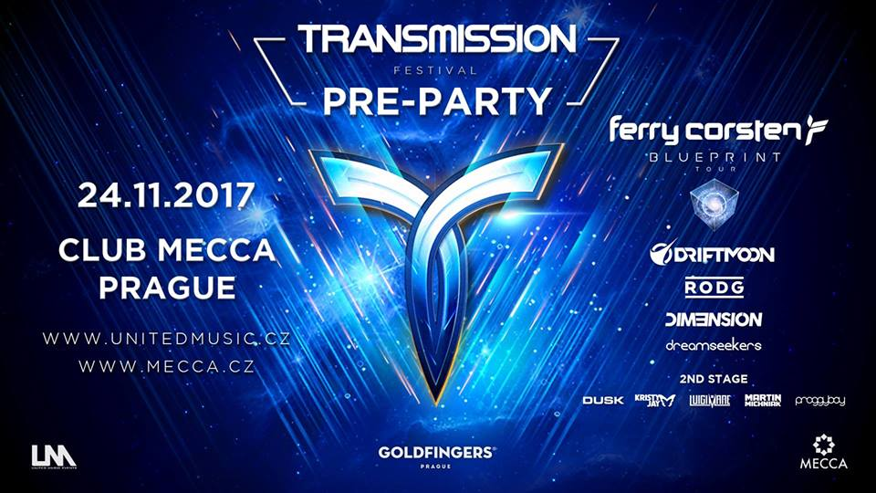 Buy tickets to pre party transmission prague 2017 ferry corsten ferry corsten presents blueprint driftmoon rodg dim3nsion dreamseekers malvernweather Gallery