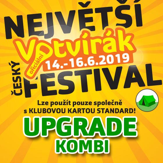 Festival Votvírák 2019<br>Největší hudební festival<br><b><font color=red>Upgrade Kombi</font></b>