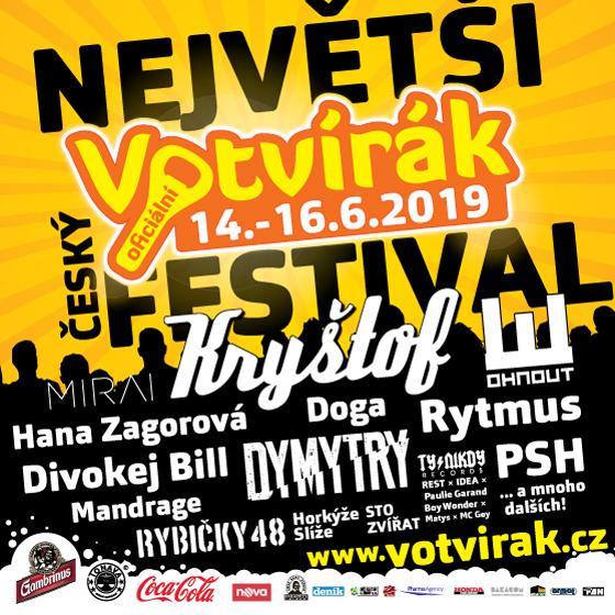 Festival Votvírák 2019<br><b><font color=red>Parkovné</font></b>