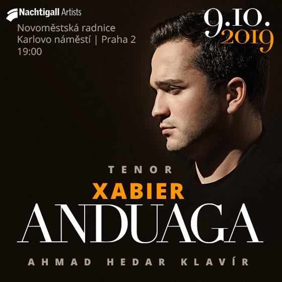 XABIER ANDUAGA - tenor/AHMAD HEDAR - klavír/-  Praha  -Novoměstská radnice   Praha