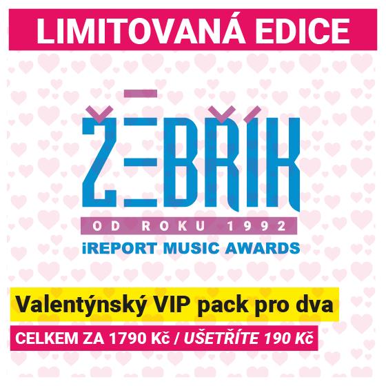 Hudební ceny Žebřík<BR><font color=red>Valentýnský VIP pack pro dva</font>