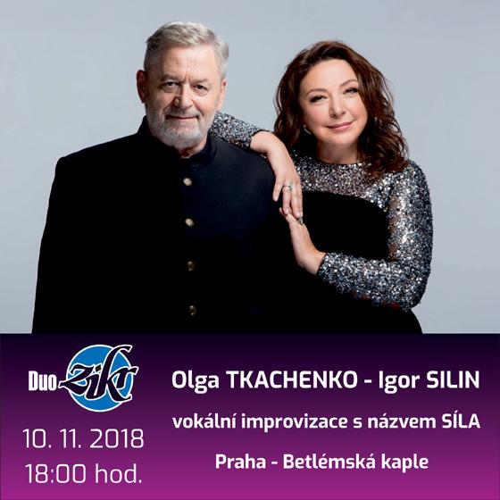 Koncert DUO ZIKR<br>Olga Tkachenko - Igor Silin<br>vokální improvizace s názvem SÍLA